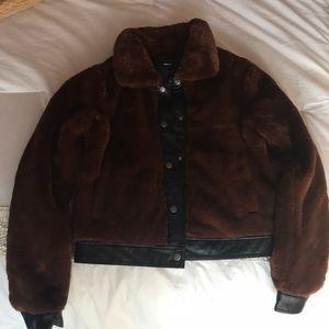 Brown fur jacket